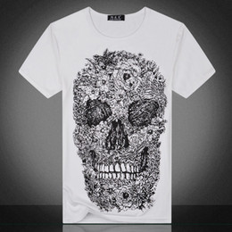 Wholesale t shirts skull men wholesale - 1Pcs Brand Skull 3D Printed Men TShirts Masculina Tee Shirt Homme Camiseta De Hombre T-shirt Pour Hommes T-shirt Para Homem