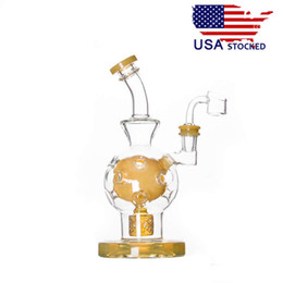 Wholesale stocking female - USA Stocked CCG Exosphere Glass Water Pipes Glass Bongs with Seed of Life Perc thick base 14.5mm female joint 9 inch Height