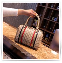 Wholesale Red Stripe Pillow - 2018 New Fashion Designer Women Handbags Female Leathe Bag Stripes Ladies Portable Shoulder Bag Ladies BagTotes