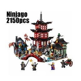 Wholesale Building Blocks Ninjago - wholesale Compatible Legoe Ninjagoes 70751 Lepin 06022 blocks Ninjago Figure Temple of Airjitzu toys for children building blocks