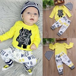 641bd0e66 Discount european style boy pants - Baby Boy Clothes 2018 INS Newborn Long  Sleeve Bear Letter