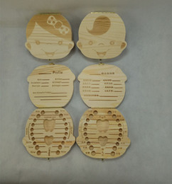 Wholesale Wholesale Baby Keepsakes - Boutique Tooth box wooden for Baby Deciduous teeth fetal hair teeth collection box Baby umbilical cord collection box 1851