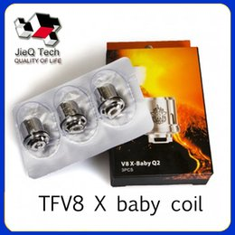 Wholesale smoktech coils - 2018 TFV8 X-Baby Coil Heads M2 Q2 X4 T6 Replacement Atomizer Coils For Smoktech TFV8 X-Baby Tank