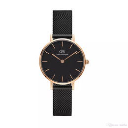 Wholesale Womens Gold Bracelet Watches - 2017 New Women 32mm Simple Casual Stainless Steel Watch Rose Gold Fashion Watch Bracelet Quartz Wristwatch Womens
