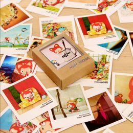 40 pcs / lot Mignon Civette chats mini cartes de message merci carte festival voeux carte postale cadeau pour enfants ? partir de fabricateur