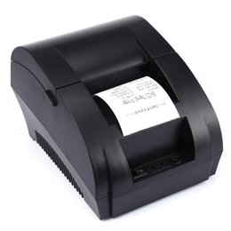 Wholesale free printers - 2018 Mini 58mm Black and White Manual POS Receipt Universal Ticket Thermal Printer with USB Port Free Shipping