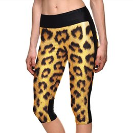 Wholesale Leggings Leopard Animal Print - Pottis Fashion New Sexy women's 7 point pants Animal tiger leopard digital printed women high waist calf length Leggings
