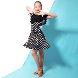 a0aebbcfc one piece dress for girl child Coupons - Fashion gauze cutout ruffle Latin  dance one-