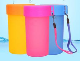 чашки спортов пластичной чашки рекламы Логоса изготовленные на заказ напольные с поясом для детей eco-содружественная выставка корпоративные подарки дела 300ml от Поставщики pp ремень