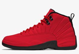 2018 Новый высокое качество XII Чикаго Красный Vachetta Тан колледж темно-синий 12 баскетбольная обувь мужские тренеры 12s замша спортивные кроссовки размер 8-13 cheap tan suede shoes от Поставщики коричневые замшевые туфли