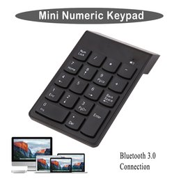 Wholesale Computer Numbers - 18 Keys Wireless Bluetooth 3.0 Mini Numeric Keypad Number Pad Digital Keypad Ultra Slim For Win 7 Computer PC Laptop