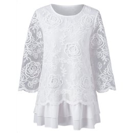 79a564bf701 Womens Tops and Blouses 2018 Elegant White Lace Long Sleeve Blouse Korean  Fashion Clothing Woman Clothes Ladies Top Feminina elegant korean clothes  outlet