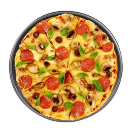 Wholesale Pizza Pans - Non-Stick Bakeware Pizza Pans 2Pcs Set Kitchenware Round Baking Pan FDA Approved BPA Free 10inch 13inch