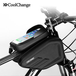 Мобильная трубка iphone онлайн-6.0/6.2''Cycling Frame Pannier Front Tube Bag Riding Touch Screen Phone Bag Bicycle iPhone Holder Mobile Phone Case Pouch