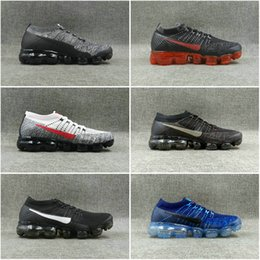 Wholesale Spike Casual Shoes - New Rainbow VaporMax 2018 BE TRUE Men Woman Shock Running Shoes For Real Quality Fashion Men Casual Vapor Maxes Sports Sneakers