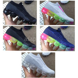 Wholesale green infant shoes - Vapormax 2018 Kids Running shoes Infant Sneaker Children sports shoes outdoor girls and boys High quality Tennis shoes Trainer size 28-35