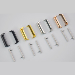 Wholesale colour strap watches - Wristband Stainless Steel Metal Band Straps Adapter Connector For Fitbit Versa Watch Epacket Shipping 4 Kinds Colour