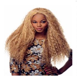 Milho americano on-line-Peruca feminina periwig peruca dianteira do laço de cabelo milho quente rolo de cabelo dourado conjunto morena natural trançado cabelo Africano Americano feminino