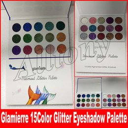 Wholesale Makeup Shimmer Eye Palette - New brand Glamierre Unicorn Glitter Eyeshadow Palette 15 Colors Makeup Shimmer Shinny Mermaid Eye Shadow Palette DHL