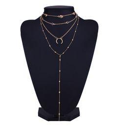bb868a6e780f 2019 pequeños collares simples Moda Estilo Simple Gargantillas Lindo  Elefante Luna Pequeño Elemento Colgante Collar de
