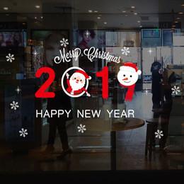 виниловый виниловый винил Скидка Рождество стикер украшения творческий торговый центр стекло окна живопись сцена макет ПВХ электростатический праздничный стены вставить окна украшения