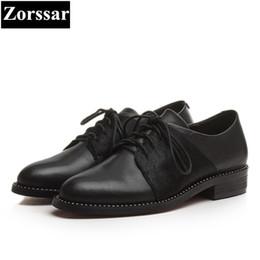 2019 talons de chaussures de cheval {Zorssar} Chaussures pour femmes à talon plat en cuir véritable de crin de cheval en cuir véritable promotion talons de chaussures de cheval