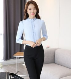 Wholesale Womens Work Suits - Wholesale-Formal OL Styles Pantsuits With Tops And Pants Professional Female Work Wear Suits Ladies Office Trousers Sets Womens Outfits