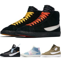 63f585fc4180ef Newest Blazer Mid Rebel Of Champ Mens Running Shoes White Queen QS Easter  Women Sports Sneakers LA VS NYC Trainers Eve Grim Reepers discount royal blue  lace ...