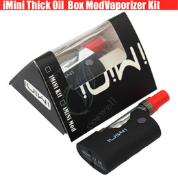 Wholesale Mod Batteries - Newest imini Thick oil Cartridges Vaporizer Kit 500mAh Box Mod Battery 510 Thread CCell Liberty V1 Tank Wax Atomizer vape pen Starter vapors