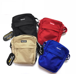 Wholesale men stuffs - Sup 44th Pack Chest Unisex Fashion Waist Bag Men Canvas Hip-Hop Belt Bag Men Messenger Bags 18ssShoulder Bag 3M reflective