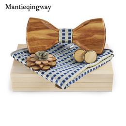 legno di spilla all'ingrosso Sconti vendita all'ingrosso di legno Bowties spilla Fazzoletto gemelli Set Gravatas Camicie da sposa cravatte in legno fatti a mano cravatta per uomo