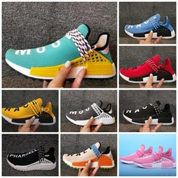 787cee60ea42f 2018 Newest Wholesale Human Race trail core Black Red Running Shoes Men  Women Pharrell Williams Runner Shoes Sneaker sports Shoes Eur 36-45