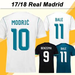 Camisa barata barata on-line-2017 2018 Real Madrid VINICIUS JR MODRIC Camisa de Futebol MARCELO ISCO Home Homens Fãs Versão Camisas De Futebol Barato BALE KROOS Camisas de Futebol de Mangas Curtas