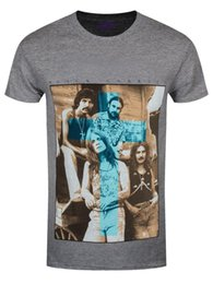 Schwarze graue lederjacke online-Black Sabbath Blue Cross Herren Grau T-Shirt Hoodie Hip Hop T-Shirt Jacke Kroatien Leder Tshirt Denim Kleidung Camiseta? T-Shirt