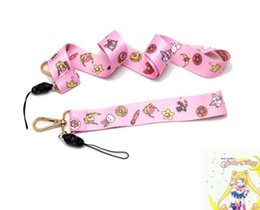 1b4e6fea9 10 PCS Cartoon Sailor Moon bear hello Kitty Neck Strap Lanyard Mobile Phone  Charms Key Chain ID Badge Key Chains PA10