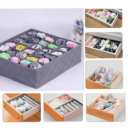Wholesale drawer closet organizer - 30 Cells Square Storage Box Underwear Socks Drawer Closet Organizer Storage Box Home storage box EEA116