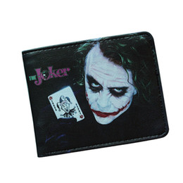 Wholesale Fur Movie - Comics Dc MOVIE The Joker Wallet Avenger Villains Wallet Leather Anime Batman Purses ID Card Holder Short Cartoon Wallet For Boy