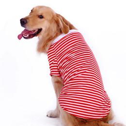 Wholesale pet apparel for large dogs - Bigeyedog Big Dog Vest Summer T -Shirt Large Dog Clothes Golden Retriever Pet Vest Summer Coat Costume Apparel For Dog Outfit