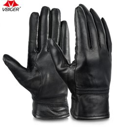 Wholesale Mitten Wear - Vbiger Women Full-finger Gloves Genuine Leather Warm Winter Wear for Bicycling Driving Motorcycling