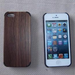 Pour Apple 5 quadrangle PC solide bois puce iphone5 cas de téléphone portable en bois iphone housse de protection en bois fabricant ? partir de fabricateur