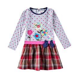 Wholesale Long Sleeve Girls Frock - 2018 Spring Baby girls dresses children clothes long sleeve kids wear fashion girls frocks hot selling frocks