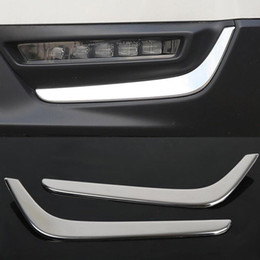 2019 cobertura de luz de nevoeiro trim Chorme Frente Nevoeiro Luz Sobrancelha Tampa Sobrancelha Trim Para Honda CRV CR-V 2017 2018 cobertura de luz de nevoeiro trim barato