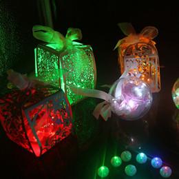 Balões de casamento rosa branco on-line-50 Pçs / lote Bola Redonda Led Balão Luzes Mini Lâmpadas de Flash para Lanternas Decoração de Festa de Casamento de Natal Branco, amarelo, rosa