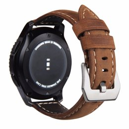 v watches Promo Codes - V-MORO 2018 New Genuine Leather Sports Bands Gear S3 Classic Fontier Watch Strap For Samsung Gear S3 Frontier Smart Watch Straps