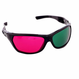 2019 фильмы анаглифические очки Green and Magenta Anaglyph 3D Glasses for Movies and Games - 2pcs Packs - Green Red Half Cool Plastic Frame скидка фильмы анаглифические очки