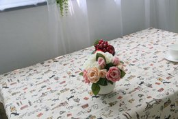 Wholesale Lace Tablecloths Wholesale - Cat Pattern Decorative Table Cloth Cotton Linen Lace Tablecloth Dining Table Cover For Kitchen Home DecorAEI-122