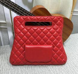 Wholesale Over Lock - Red soft lambskin Handbag Fold Over Clutch Bag Women Large Hand Tote Bag 2018 Fashion Genuine Leather purse
