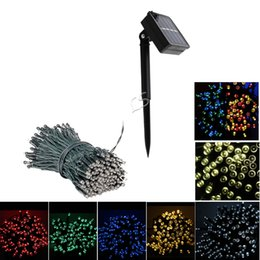 Wholesale Fairy Lights Wedding - 7m 12m 22m LED Solar Lamp LED String Fairy Lights Garland Christmas Solar Light for Outdoor Wedding Garden Party Decoration