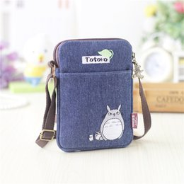 Wholesale bear clutch bag - 2017 New Girls Cute Totoro Shoulder Bag Cartoon Bear Coin Purse Mini Messenger Bags Kids Gift Female Clutch Purse Phone Bag