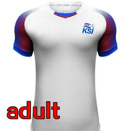 Wholesale Thai Wholesale Jersey - 2018 World Cup Team Iceland soccer Jerseys 2017 Iceland home Blue thai quality WC jersey Iceland football shirt World Cup Soccer Jerseys